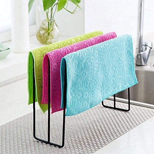 Einfach Eisen Handtuch Rag Halter Regal Küche Badezimmer Rack Ständer Socken Kleiderbügel Tücher Tücher Geschirrtuch Reinigungstuch Trocknen Hadern Aufhängen Organizer Edelstahl Mehrzweck Praktische