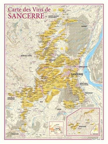 Carte des vins de Sancerre par Benoit France