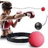 GothicBride Boxning reflex boll, boxning reflex bollhuvud, boxningshuvudboll, MMA hastighet träning reflex boll set med 2 sla