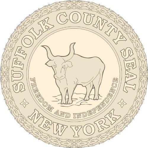 Suffolk County New York State USA Seal Hochwertigen Auto-Autoaufkleber 12 x 12 cm - Suffolk County, New York