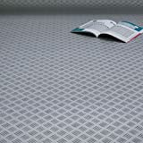 PVC Bodenbelag Riffelblech Grau Alu Breite 2 m (9,95 € p. m²)
