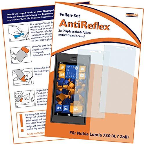 mumbi Schutzfolie kompatibel mit Nokia Lumia 730 / 735 Folie matt, Bildschirmschutzfolie (2x)