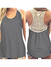 MRULIC Damen Sommer Kurzarm T-Shirt V-Ausschnitt mit Schnürung Vorne  Oberteil… ba20234ec6