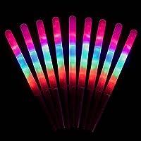 Yoye 12pcs bâtons Lumineux de Barbe à Papa en Vrac, bâtons de matériau PC de qualité Alimentaire LED avec 8 Modes d…
