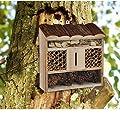 Insektenhotel Insektenhaus Insekten Nistkasten 30x30x9cm groß xxl mit Mineralien von Hummelladen auf Du und dein Garten