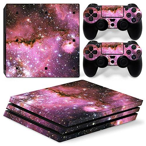 stillshine PS4Pro Vinyl Skin Decal selbstklebend Aufkleber für Playstation 4Pro Konsole & 2Dualshock Controller Set rosa Starry Pink