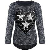 BEZLIT Mädchen Pullover Pulli Wende-Pailletten Sweatshirt 21517, Farbe:Schwarz, Größe:116
