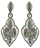 Saloni Fashion Jewellery Latest Bollywood Elegant Silver Firoza With Austrian Diamond Earring