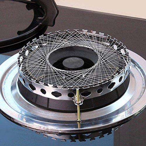 NUOLUX Runde Form Fackel Gas kochen winddicht Energiespar-Cover Net Herd windfest Kreis (Silber)