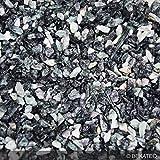 Steinteppich Marmorkies für 2qm | BEKATEQ BK-600EP Bodenbelag Bodenbeschichtung (25KG Marmorkies + 1,5KG Bindemittel, Grün - Verde Alpi)