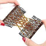 Frcolor Magic EZ peinetas de pelo doble peine de estiramiento peines accesorios para el cabello para mujeres niñas (color al azar)
