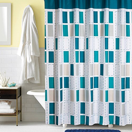 Ufaitheart Bathroom Waterproof Fabric Bath Curtain Stall Shower ...
