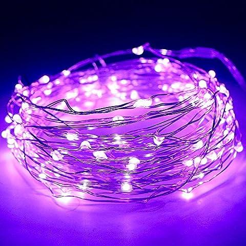 Lichterkette Kupferdraht, Kany LED Lichterkette 10 Meter 100 LEDs Batteriebetrieben Kupferdraht Wasserdicht, Kupterdraht Sternenlicht außen und innen für Weihnachten, Hochzeit, Party mit battery Box (Ziel Weihnachten Kommerzielle)