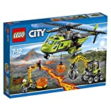 LEGO 60123 City In/Out Volcano Supply Helicopter Construction Set - Multi-Coloured