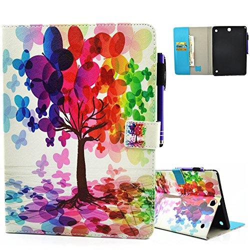 Aeeque Stilvolle Pochette Case Tablette für Samsung Galaxy Tab A 9.7 SM-T550 / T555 Ultra-Fit PU-Ledertasche Funktion Unterstützung für Kratzschutzabdeckung mit Muster Baum Farbe