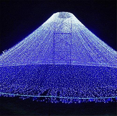 achten String Light 20 Meter 200 LEDs Fenster Vorhang Hochzeit Party Halloween Garten Schlafzimmer Outdoor Indoor Wanddekorationen (blau, 8 Modi, Heck Stecker) (Halloween Fenster Vorhänge)
