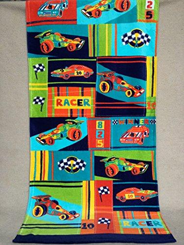 Mangeoo baby puro cotone asciugamano da bagno avvolto in un grazioso cartoon acqua forte pupilla assorbente boy asciugamano piscina 150x75cm,380 grammi di car racing,150x75cm