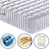 Vesgantti 9.4 Inch Multilayer Hybrid Mattress - Multiple Sizes & Styles Available, Ergonomic Design with Memory Foam and Pocket Spring/Medium Plush Feel - 3 FT Single