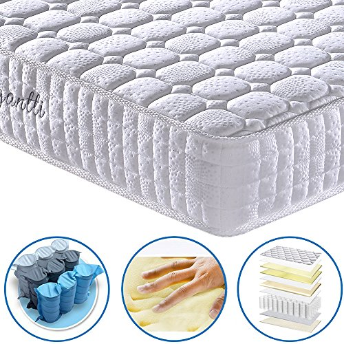 [EASTER SALE] Vesgantti 24cm Deep Multilayer Ergonomic Design Orthopaedic Mattress with Memory Foam and Pocket Spring – Multiple Sizes Available – 5FT UK King