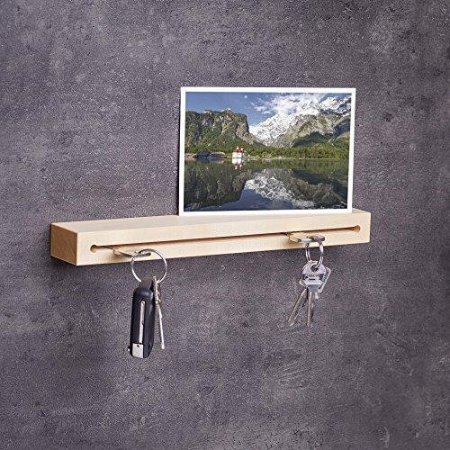 Schlüsselbrett Holz in 30cm | Handgefertigt in Bayern | andere Holzarten und Ausführungen zur Auswahl | Schlüsselkasten Schlüsselhalter Schlüsselleiste Schlüsselboard | Ahornholz