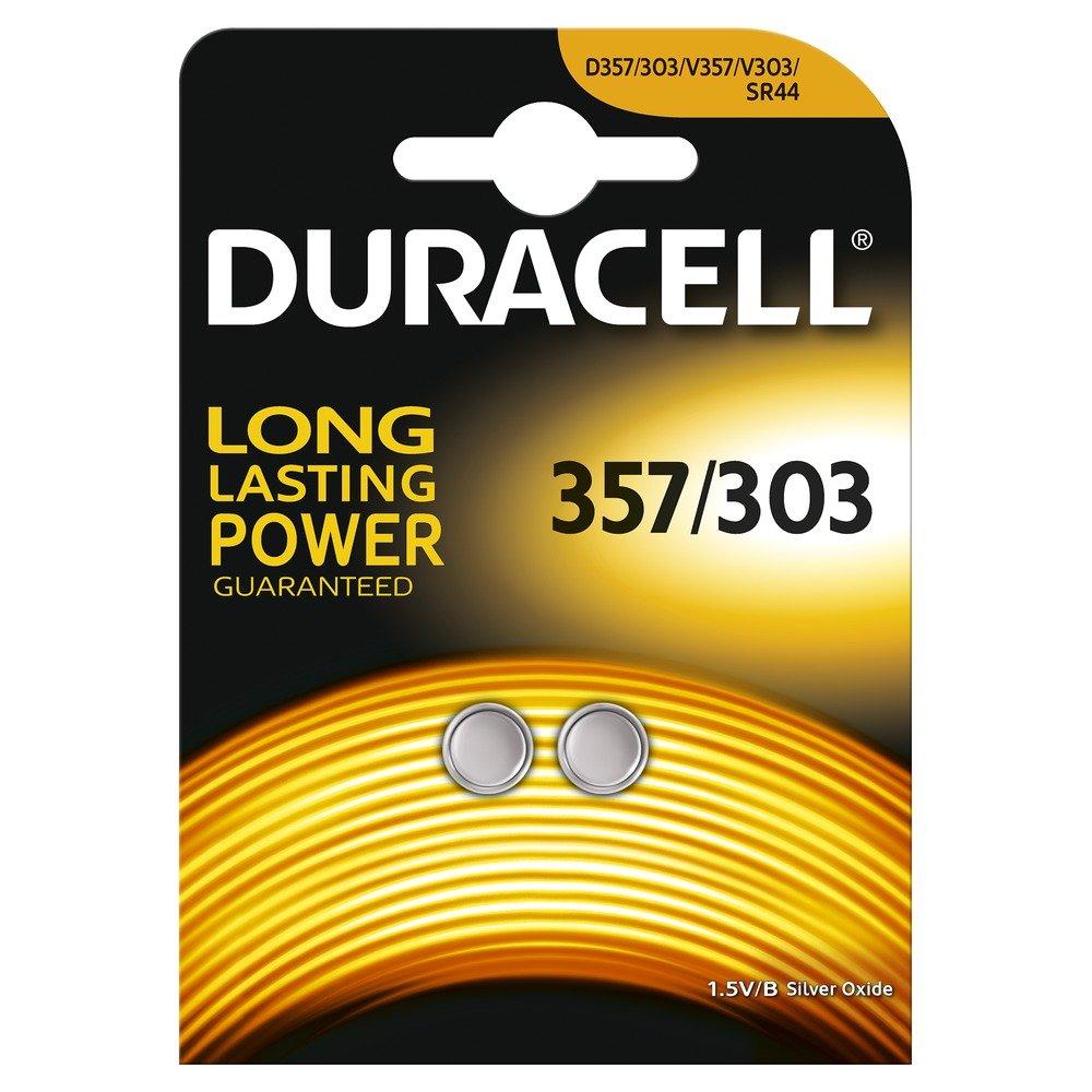 Duracell 75053938, Pila Speciale per Apparecchi Elettronici, 357/303 Piccolo Blister  x2