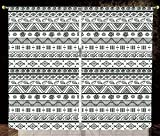 2 Panel Set Thermal Insulated Blackout Window Curtain,Tribal Ethnic Aztec Pattern with Primitive Geometric Forms Triangles Background Hunter Green White,for Bedroom Living Room Dorm Kitchen Cafe Amazon deals