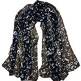 ZYUEER Femme Foulard Longue ChâLe Cozy Echarpe Oversize Foulard Imprimé Foulard Palestinien Mode Pas Cher Size:160 * 43cm (Noir)