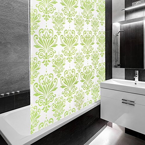 Design Duschrollo mit Ornamenten - Halbkassette - 140x240cm