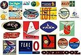 Vintage Airline Gepäck-Sticker, Retro 19Stück Koffer-Aufkleber