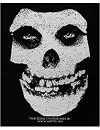 Misfits White Skull Patch Woven 10x 13cm