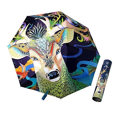 Irregolare Ombrello creativo Xagoo con la maniglia con impermeabile Led Solar Protect e regalo perfetto per i vostri amici (Stile 3)