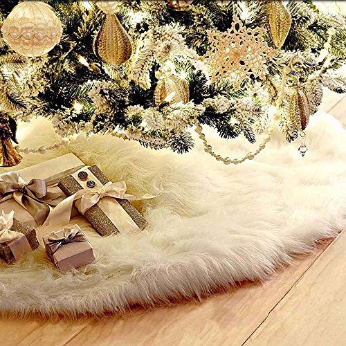 78cm Weihnachtsbaumdecke Weihnachtsbaum Rock Weiß Plüsch Weihnachtsbaum Decke Weihnachtsbaum Deko Weihnachtsdeko (78cm)