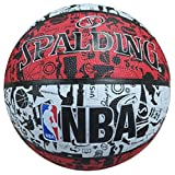 Spalding NBA Graffiti Outdoor SZ.7 (83-574Z) Basketball, rot/Schwarz/Weiß, 7.0
