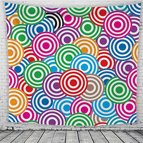 HmDco Europäischen Kreis Wandteppich geometrische abstrakte Gedruckt hängenden Tuch, 2#, 200*150cm.