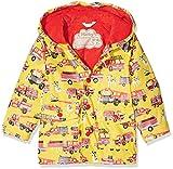 Hatley Baby-Jungen Regenmantel Mini Printed Raincoat, Yellow (Fire Trucks), 12-18 Monate