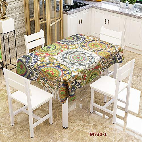 QWEASDZX Tischdecke Polyestergewebe Tischdecke rutschfeste Baumwolle Polyester Einfache Tischdecke Mehrzweckmode Geeignet für den Innen- und Außenbereich 140x200cm (Party-platten Bausteine)