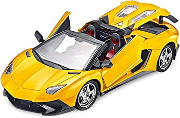 Zitto Rechargeable Remote Control Sports Car with Opening Doors, Yellow