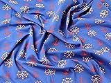 Spanisch Nautical Print Stretch Jersey Kleid Stoff