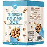 Marchio Amazon - Happy Belly Arachidi Caramellate con Cocco, 120g x 4