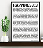 HAPPINESS IS . . POSTER - Motivational Quote Print Art Picture - Size A3 (420 x 297 mm) ... by One Life Posters