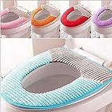 Musuntas Weiches atmungsaktiv Winter Warmer Toilettensitzabdeckung waschbar Tuch WC-Sitz-Pads/ WC-Sitz-Matte/WC-Sitzbezüge (blau)