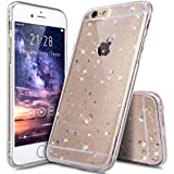 "Coque iPhone 6S,Étui iPhone 6S,Coque iPhone 6,Étui iPhone 6,ikasus® Coque iPhone 6 / 6S Silicone Étui Housse Paillette étoile Téléphone Couverture TPU avec Modèle de diamant brillant paillettes bling brillant diamant glitter Ultra Mince Premium Semi Hybrid Crystal Clear Flex Soft Skin Extra Slim TPU Case Coque Housse Étui pour Apple iPhone 6/6S 4.7"" - Claire A"