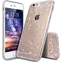 iPhone 6S Plus Hülle,iPhone 6 Plus Hülle,Shiny Glänzend Bling Glitzer Sterne Pailletten Diamant Muster Durchsichtig TPU Silikon Handy Hülle Handyhülle Schutzhülle für iPhone 6 Plus/6S Plus,Klar A