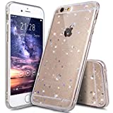 Coque iPhone 6S Plus,Étui iPhone 6S Plus,Coque iPhone 6 Plus,Étui iPhone 6 Plus,ikasus Coque iPhone 6 Plus / 6S Plus Silicone Étui Housse Paillette étoile Téléphone Couverture TPU avec Modèle de diamant brillant paillettes bling brillant diamant glitter Ultra Mince Premium Semi Hybrid Crystal Clear Flex Soft Skin Extra Slim TPU Case Coque Housse Étui pour Apple iPhone 6 Plus / 6S Plus 5.5' - Claire A