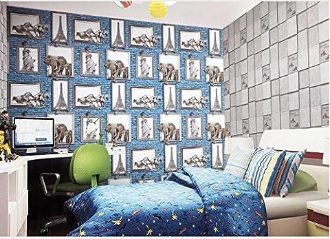 Elephant mural wallpaper wallpaper 3D simulation bedroom bed living room