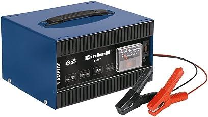 Einhell Kfz Batterieladegerät BT-BC 5 (für Bleiakkus von 16 bis 80 Ah, 12 V Ladespannung, eingebautes Amperemeter, Tragegriff)
