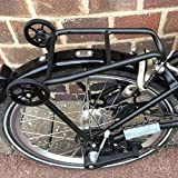 Brompton Rear Rack Mini Gepäck Regal + 2 Easy Rollen Black Edition leicht
