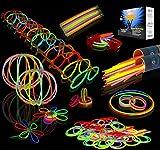 Joyin Toy 200 8'' Glowsticks Glow Sticks Bracelets Glow Necklaces Glasses Flowers Balls Butterflys Party Pack  (7 Colors Total 456 Pcs)