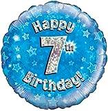 Blau Alter 7 Runde Folienballon (nicht aufgeblasenen)