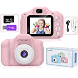 AMERTEER Kids Toy Digital Camera with [ 32 GB Memory Card and Card Reader ] Gifts for Child Boys Girls,Mini Rechargeable Chil